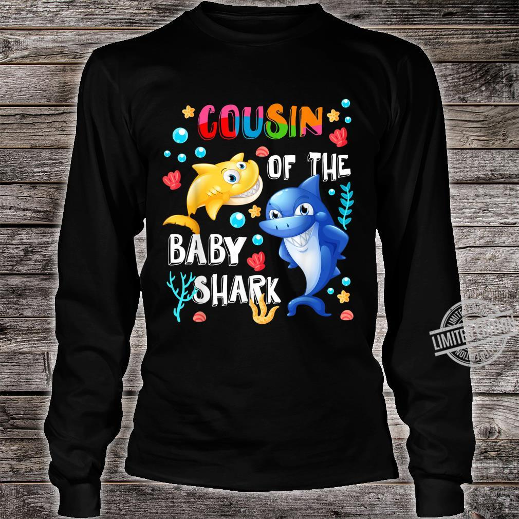 Cute Cousin Of The Baby Shark Cousin Shirt long sleeved