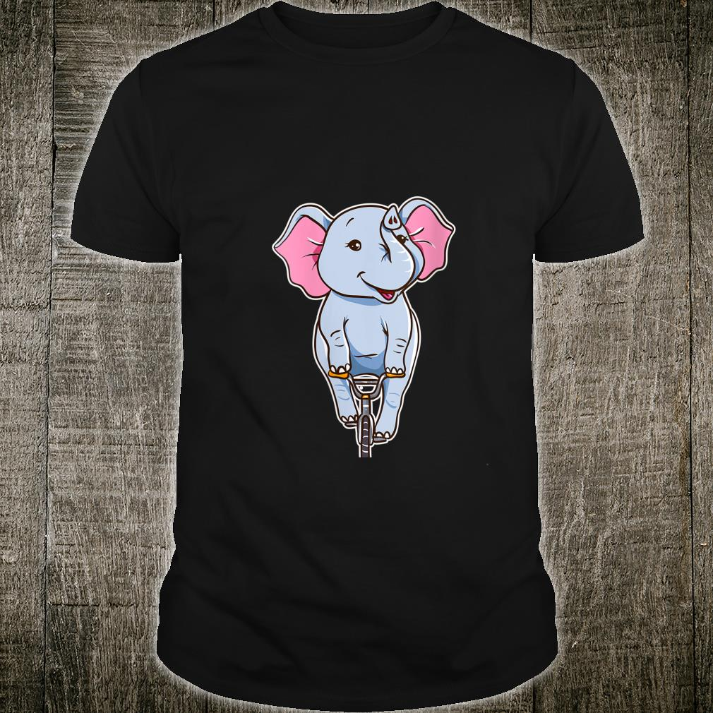 Cute Elephant Riding A Bike Zoo Animals Shirt
