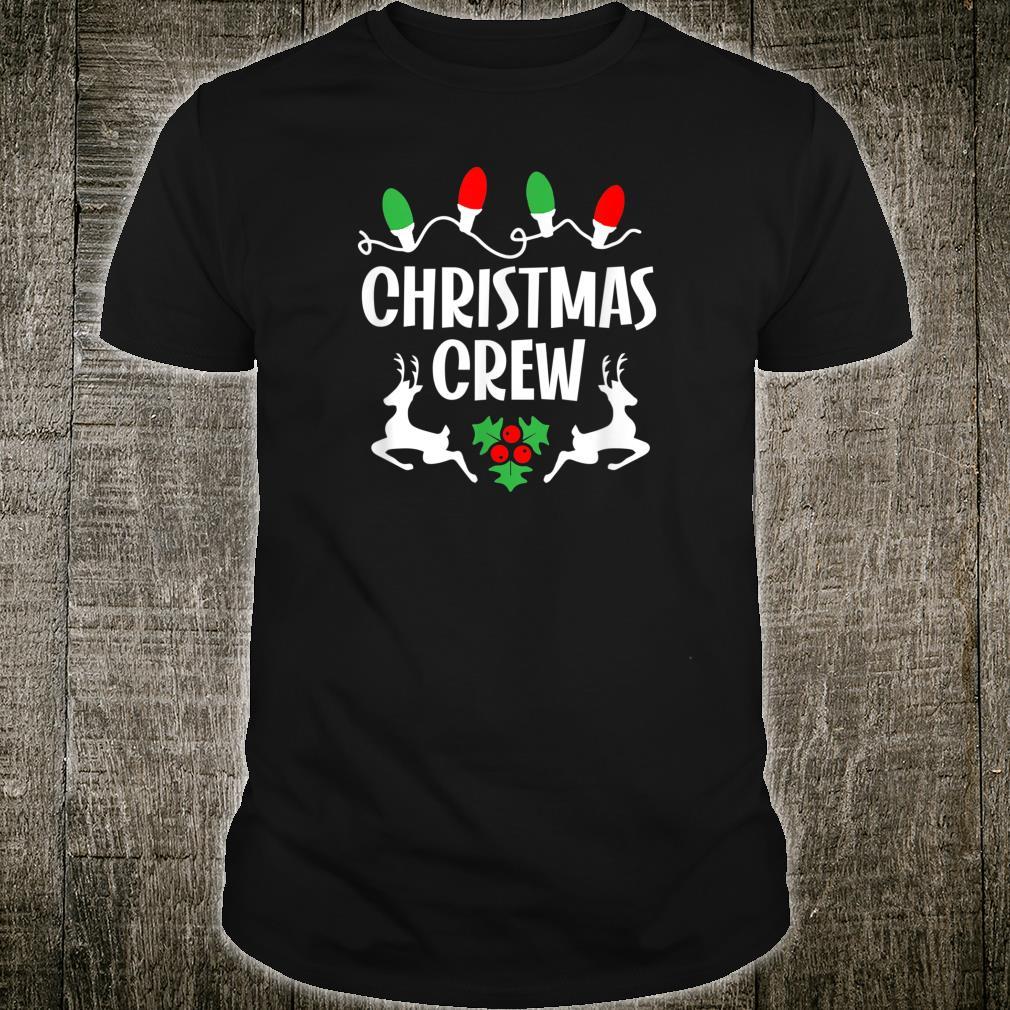 Cute Family Christmas Crew Matching Pajama Lights Shirt