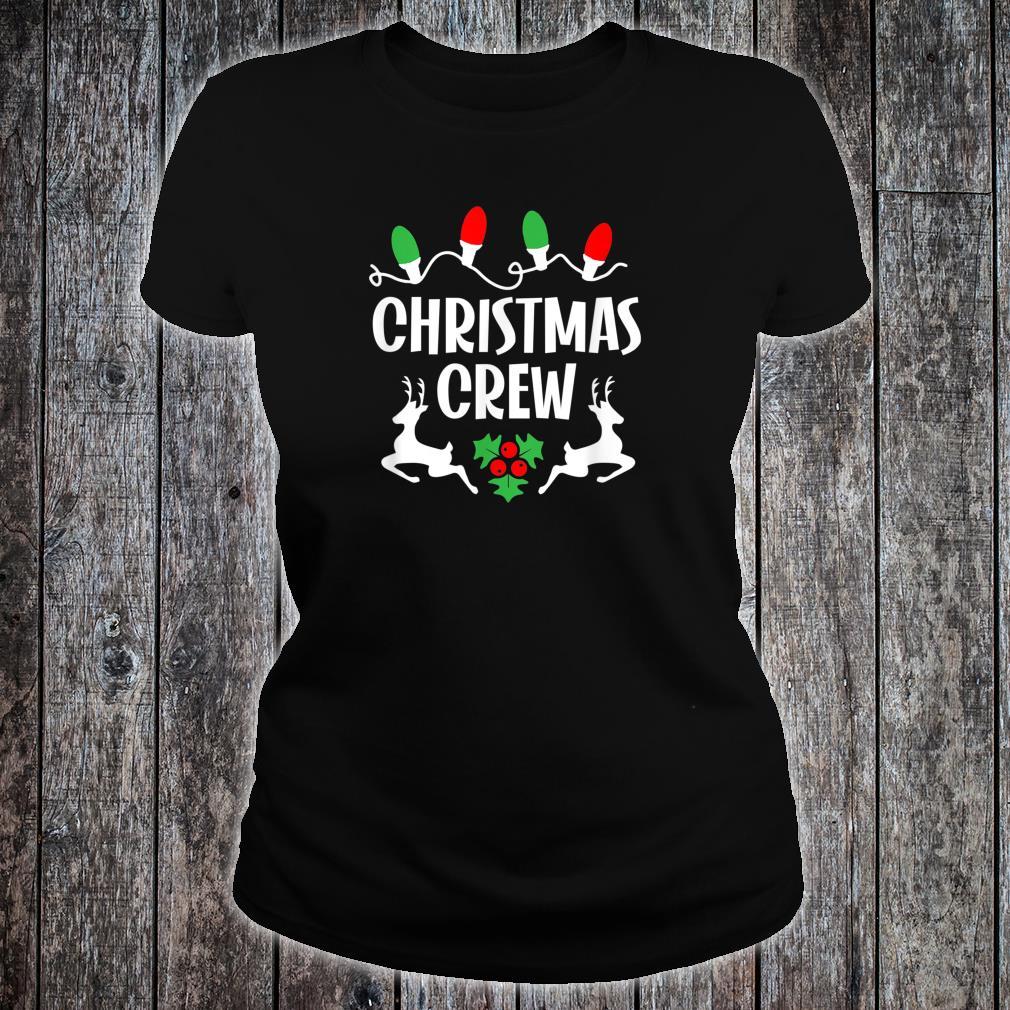 Cute Family Christmas Crew Matching Pajama Lights Shirt ladies tee