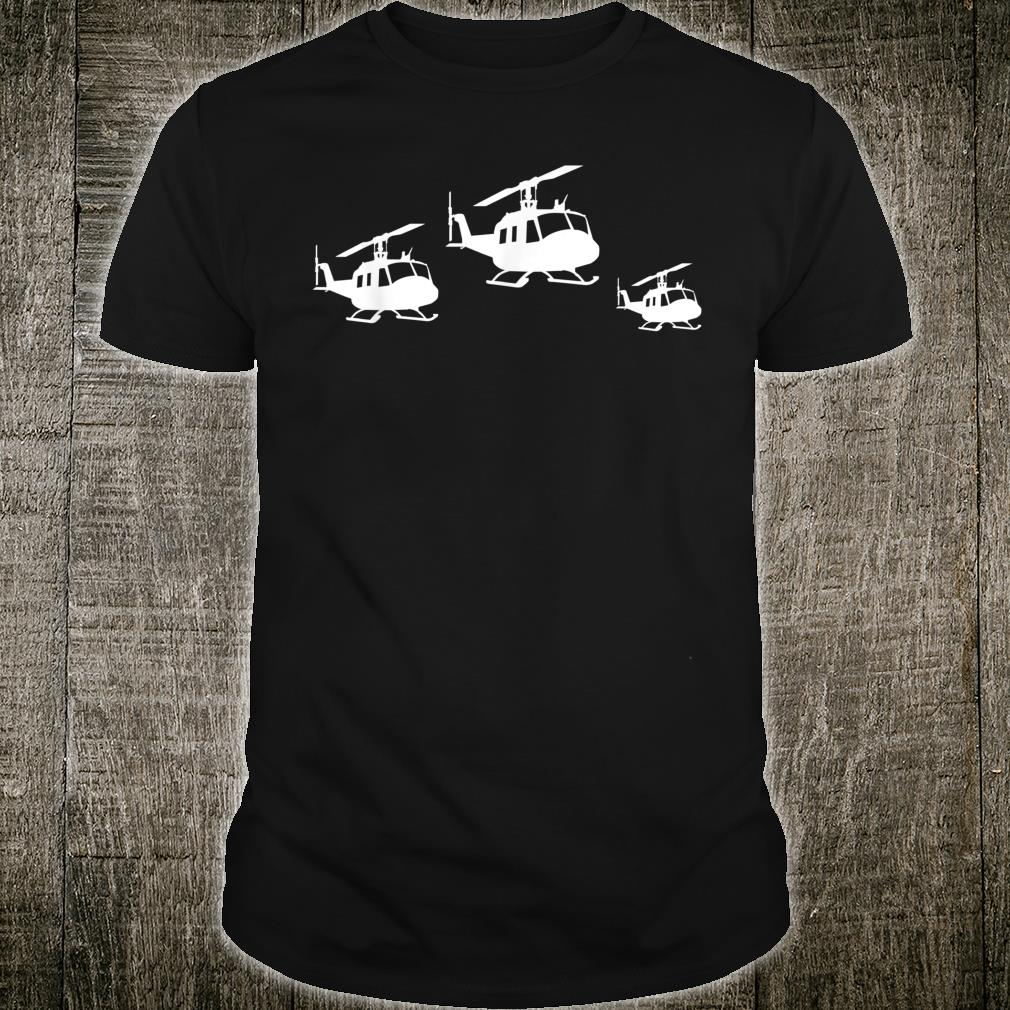 Cute Helicopter Retro Vintage Helicopter Pilot Shirt