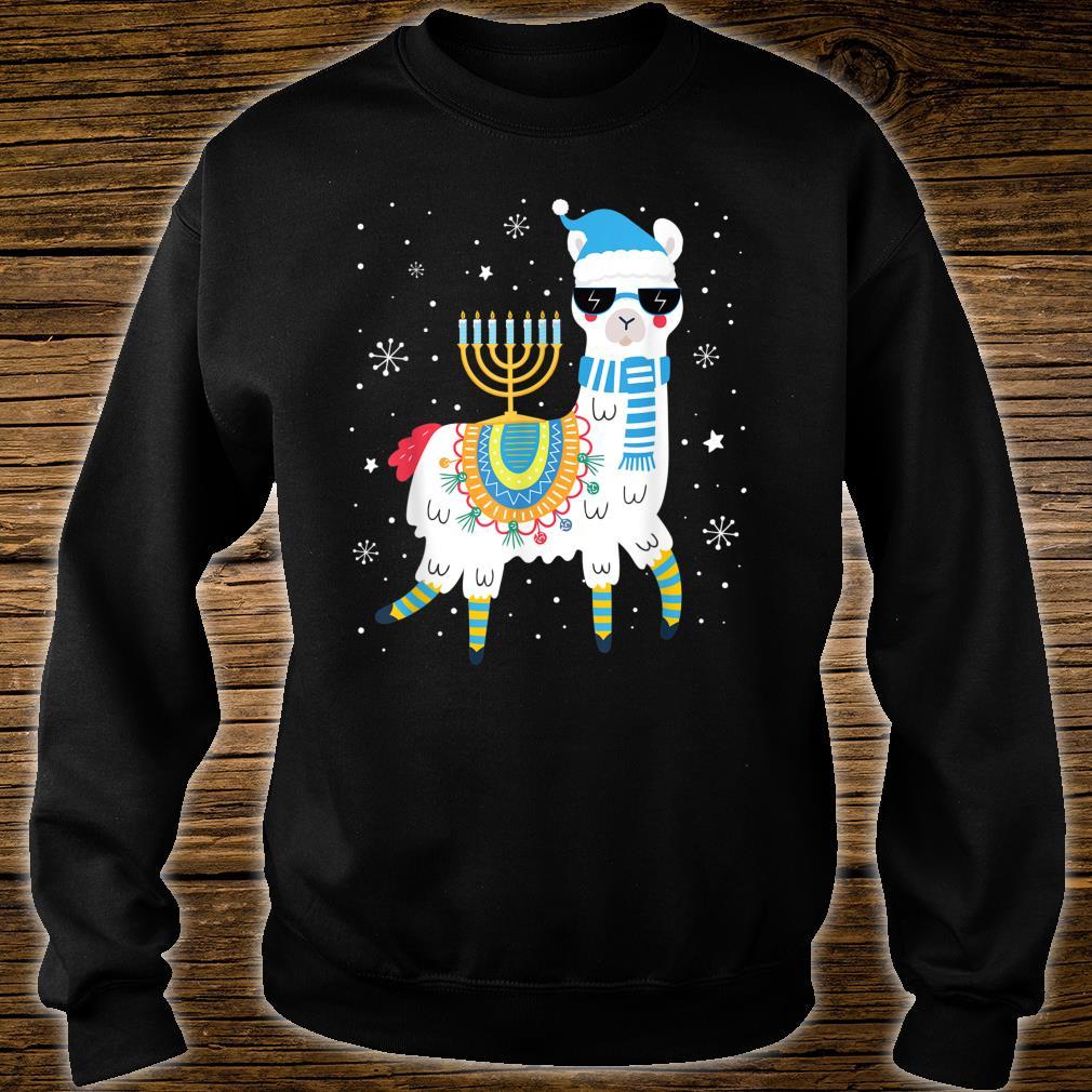 Cute Llama Withorah Hanukkah Alpaca Chanukah Shirt sweater