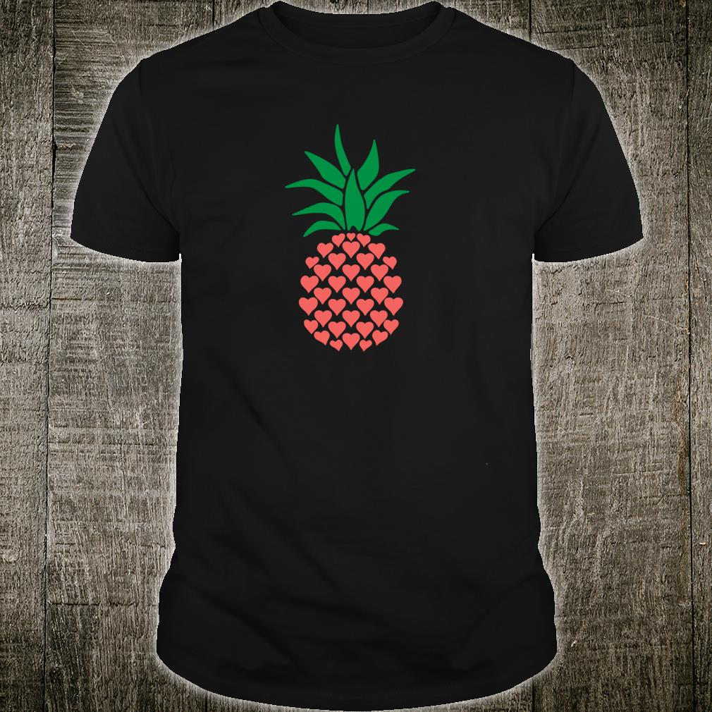 Cute Pineapple With Hearts Valentine's Day Shirt