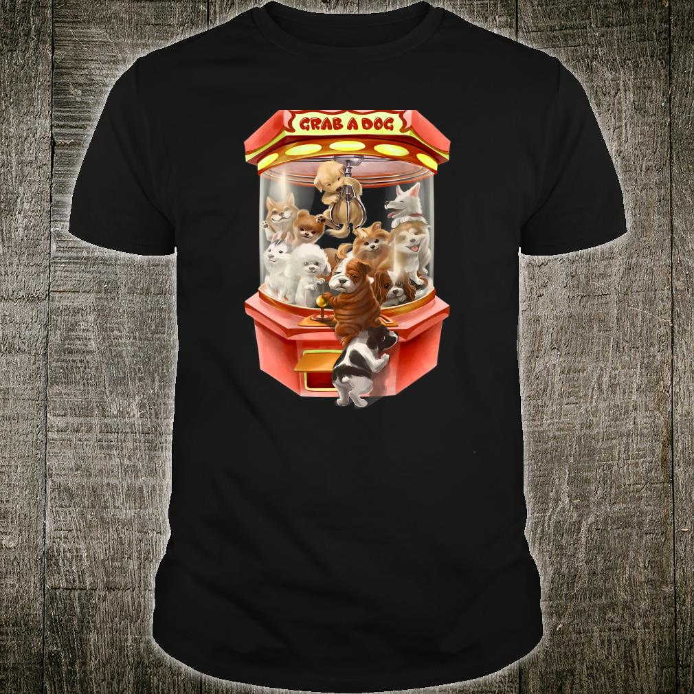 Cute Puppies Dog in Red Claw Machine Game Shirt