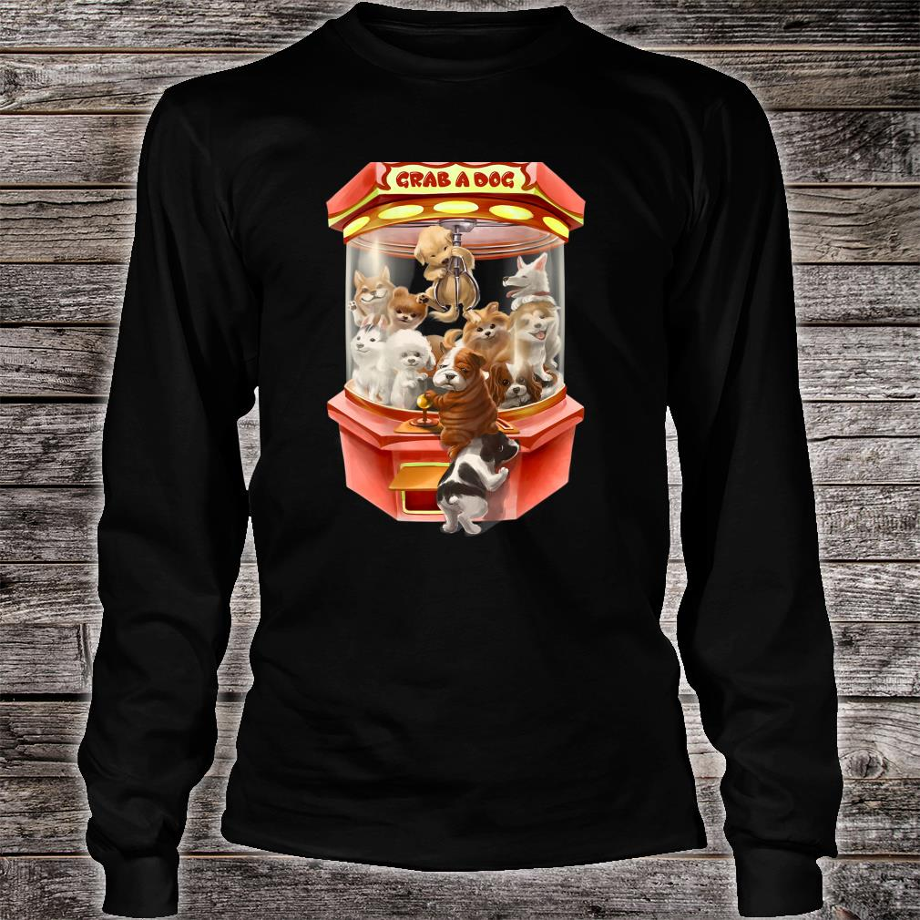 Cute Puppies Dog in Red Claw Machine Game Shirt long sleeved
