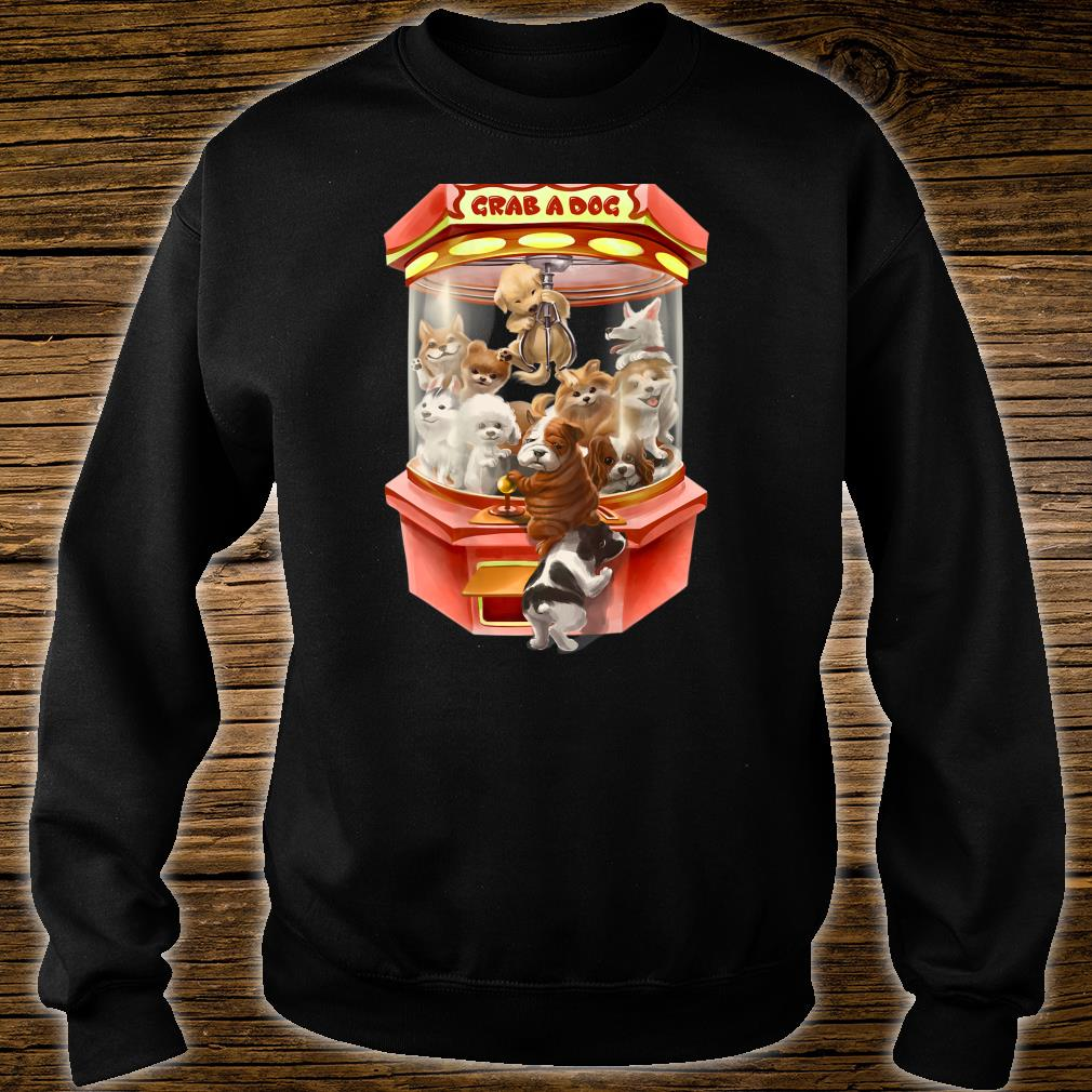 Cute Puppies Dog in Red Claw Machine Game Shirt sweater