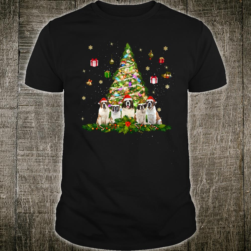 Cute Saint Bernards Christmas Tree Xmas Decorations Shirt