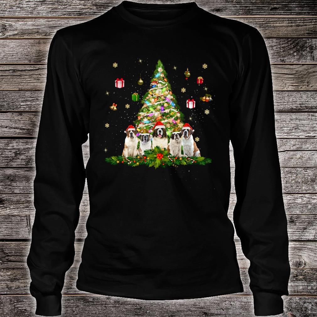 Cute Saint Bernards Christmas Tree Xmas Decorations Shirt long sleeved