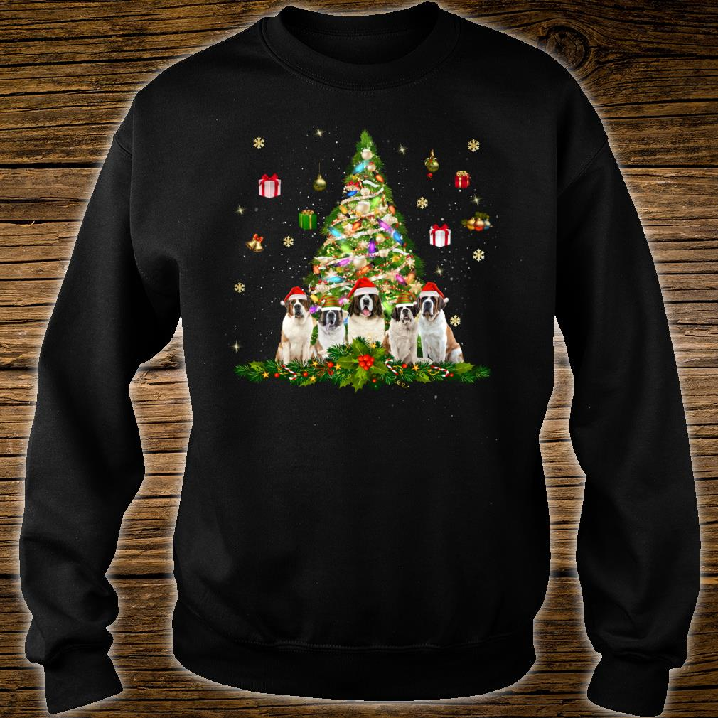 Cute Saint Bernards Christmas Tree Xmas Decorations Shirt sweater