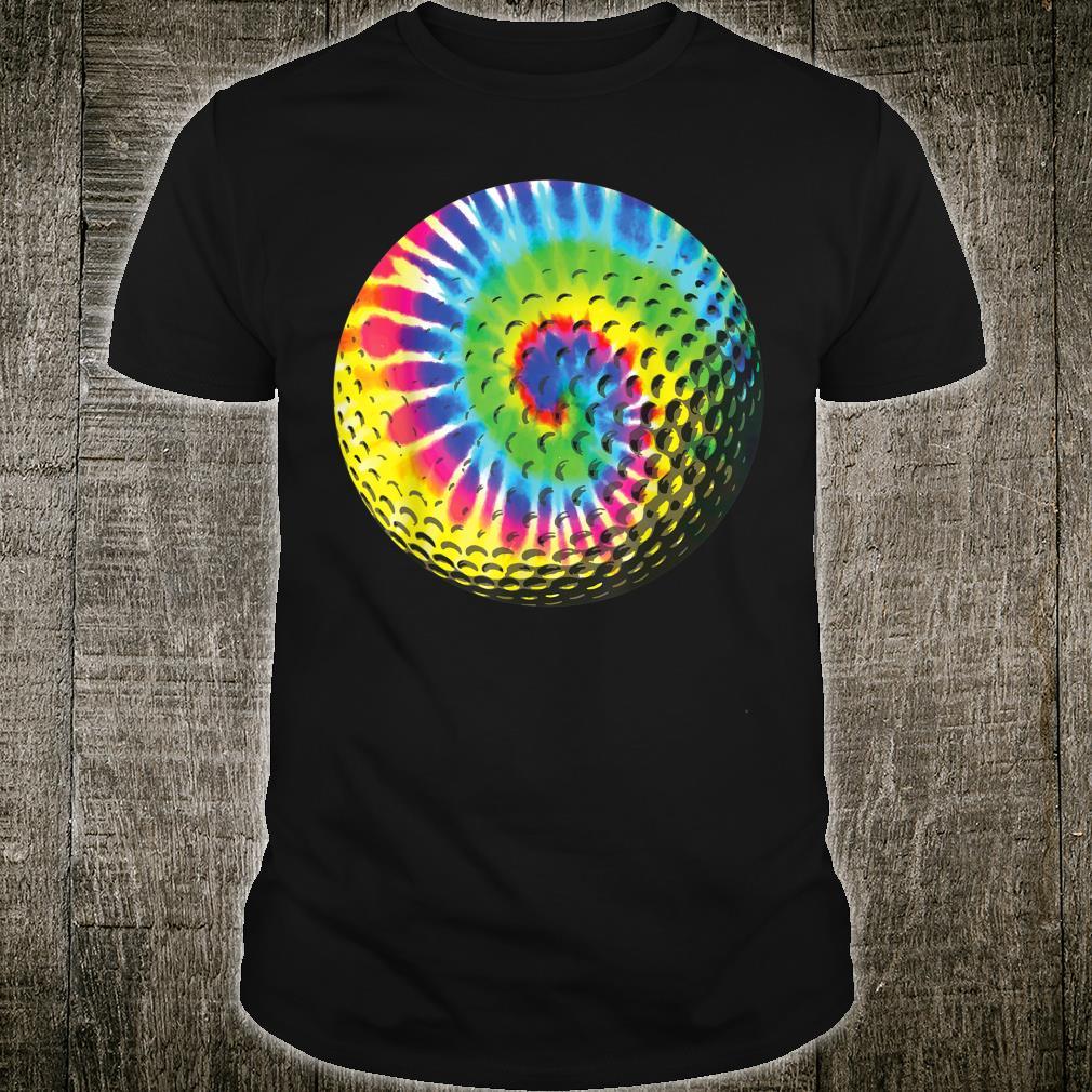 Cute Tie Dye Golf Rainbow Colored Ball Shirt