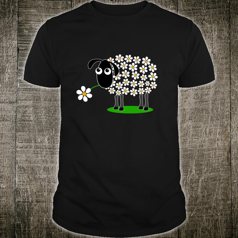 Cute sheep with flower wool daisies for girls Shirt