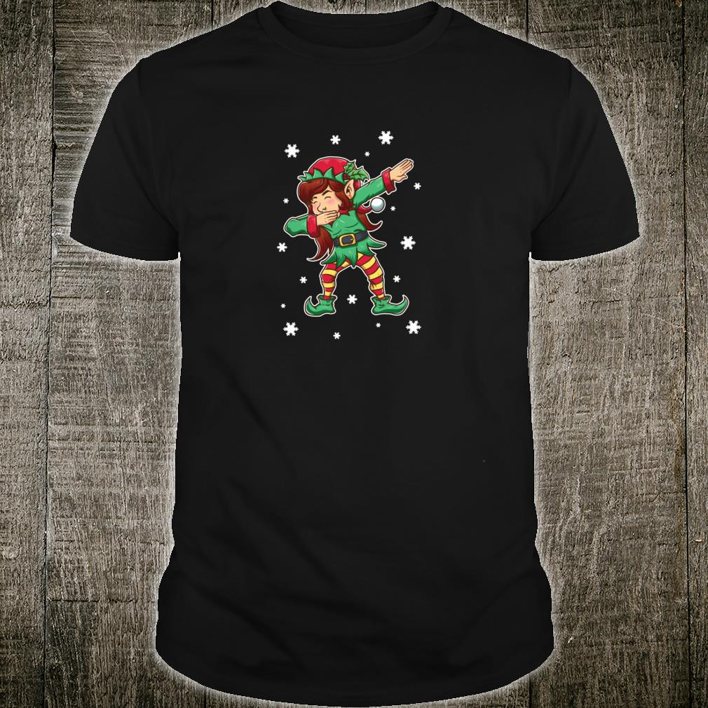 Dabbing Elf Shirt Girls Matching Sister Christmas Outfits Shirt