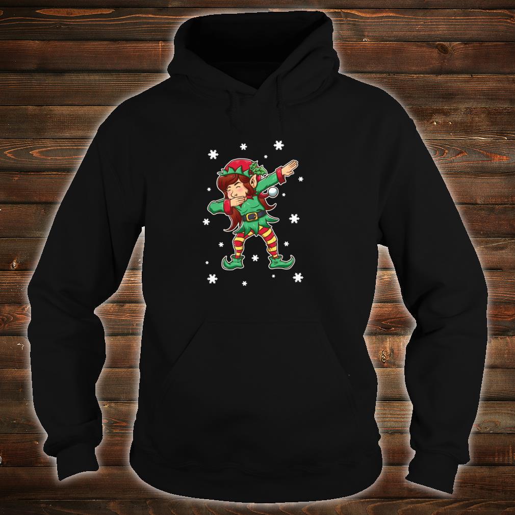 Dabbing Elf Shirt Girls Matching Sister Christmas Outfits Shirt hoodie