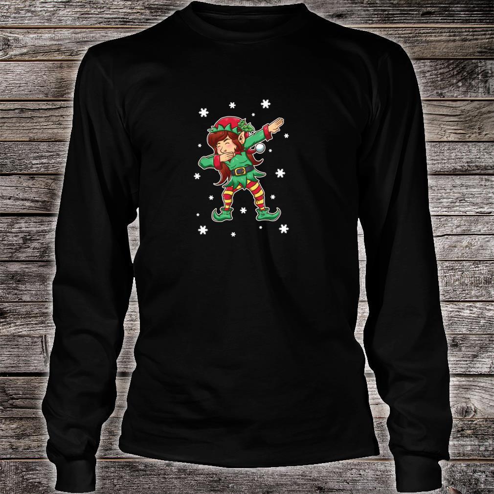 Dabbing Elf Shirt Girls Matching Sister Christmas Outfits Shirt long sleeved