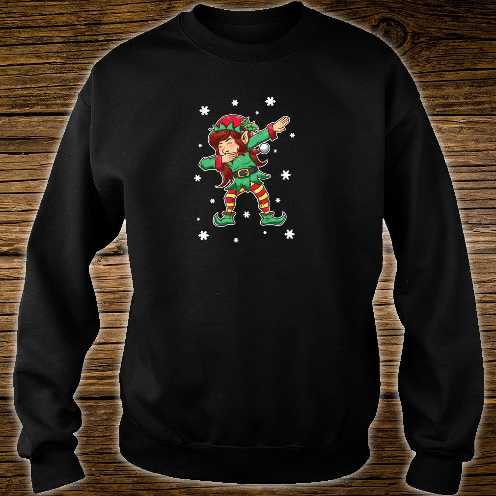 Dabbing Elf Shirt Girls Matching Sister Christmas Outfits Shirt sweater