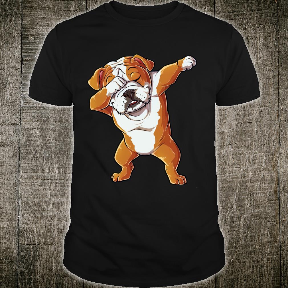 Dabbing English Bulldog Dog Dab Dance Shirt