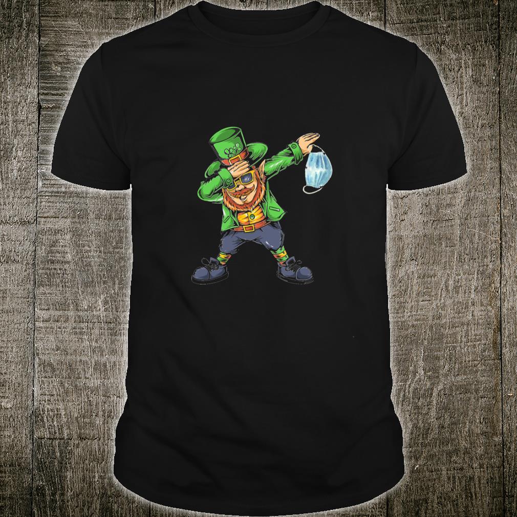 Dabbing Lockdown Leprechaun St Patrick's Day Shirt