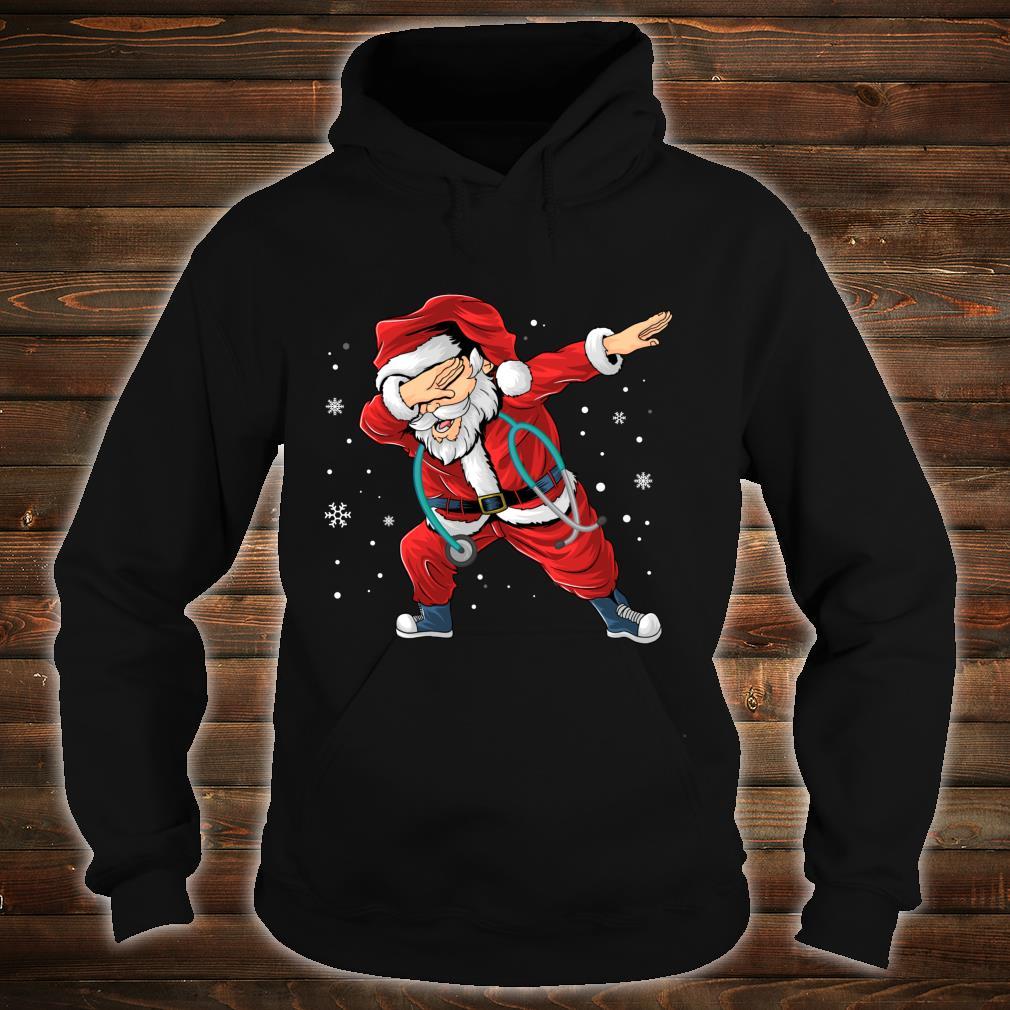 Dabbing Santa Nurse Stethoscope Christmas Pajama Nursing Shirt hoodie