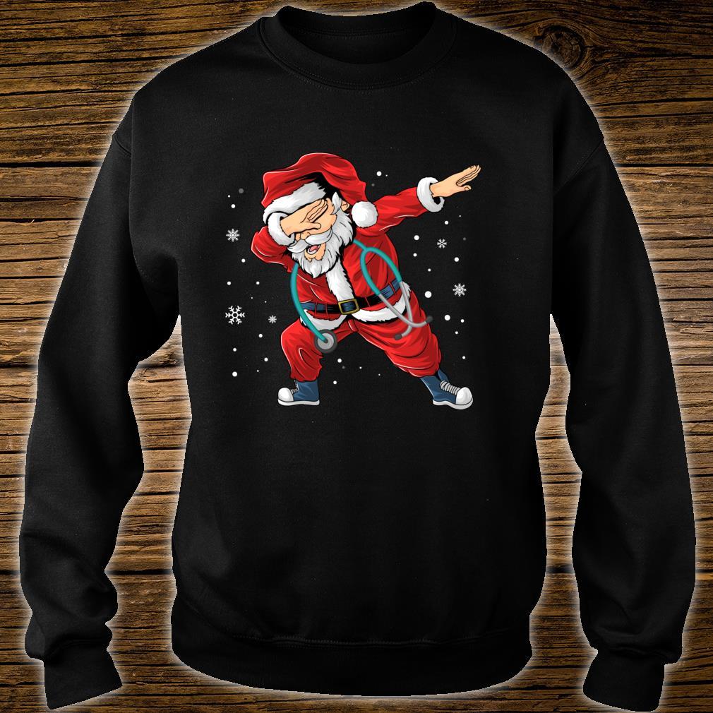Dabbing Santa Nurse Stethoscope Christmas Pajama Nursing Shirt sweater