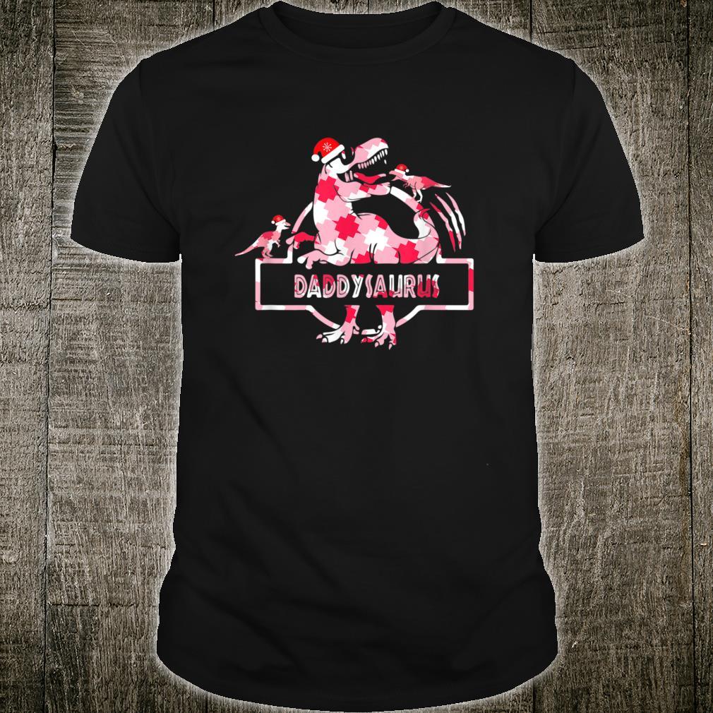 Daddysaurus Buffalo plaid T Rex Family Christmas Pajamas Shirt