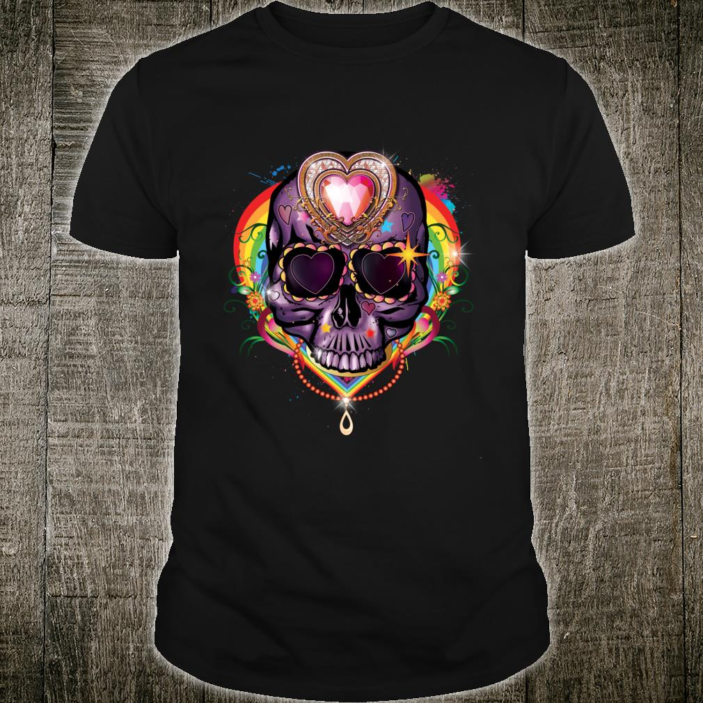 Day of the Dead Dia de los Muertos Kawaii Pastel Sugar Skull Shirt