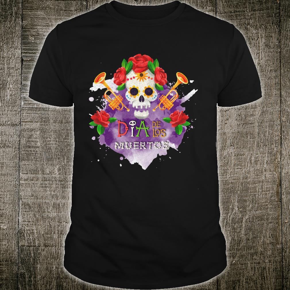 Day of the Dead Dia de los Muertos Sugar Skull Halloween Shirt
