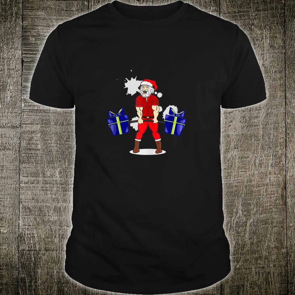 Deadlift Santa Claus Christmas Xmas Bodybuilding Shirt