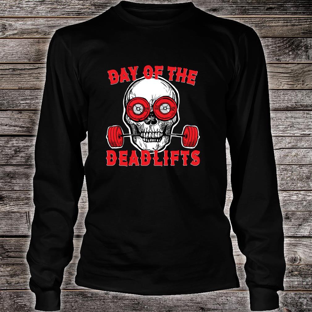 Deadlift Skull Weightlifting Powerlifting gym Shirt long sleeved