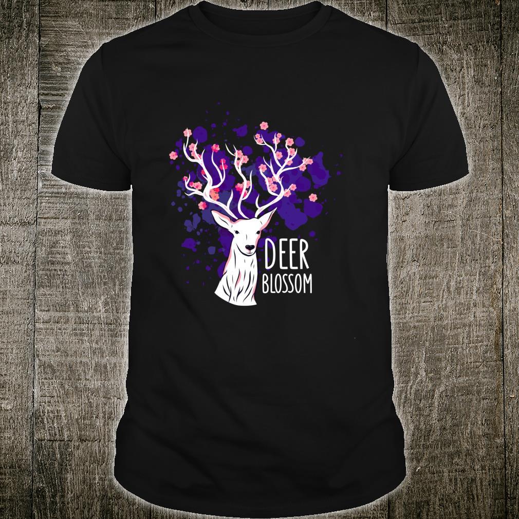 Deer Cherry Blossom Deers Shirt