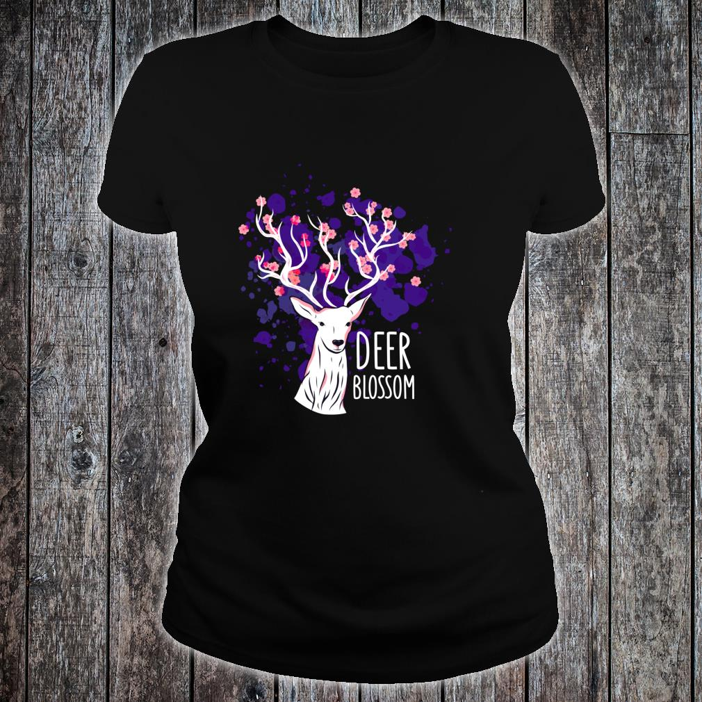 Deer Cherry Blossom Deers Shirt ladies tee