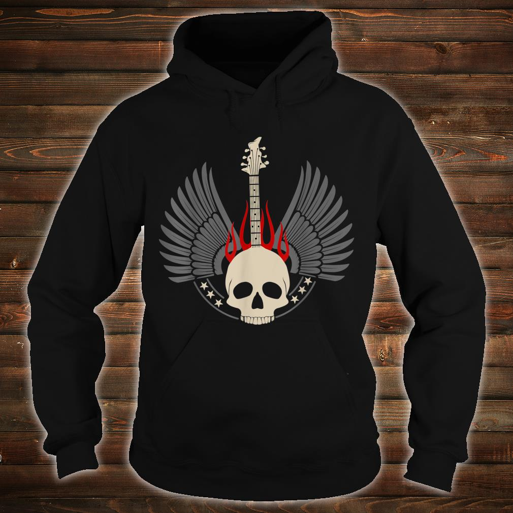 Design with acoustic and skeleton electric guitar Shirt hoodie
