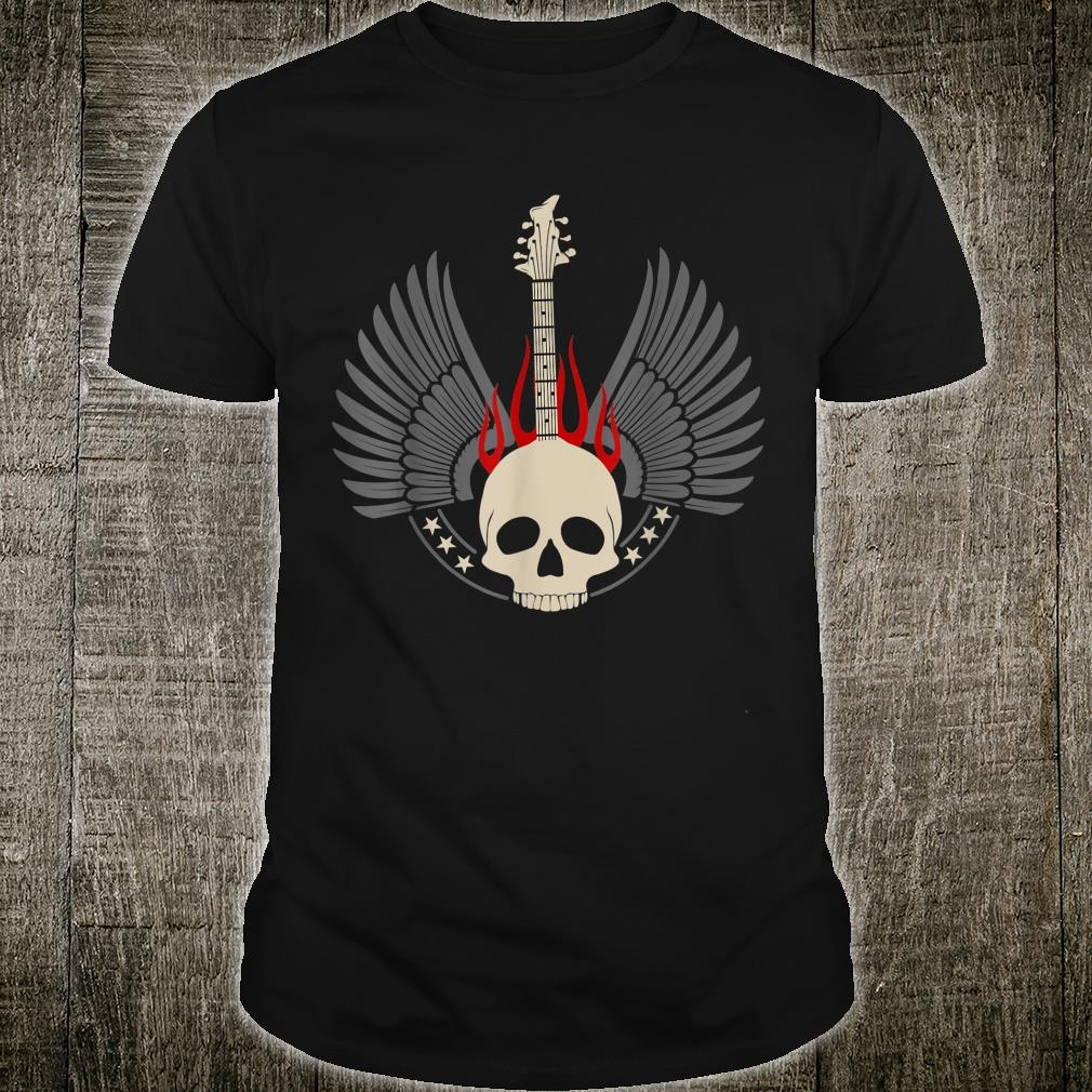 Design with acoustic and skeleton electric guitar Shirt