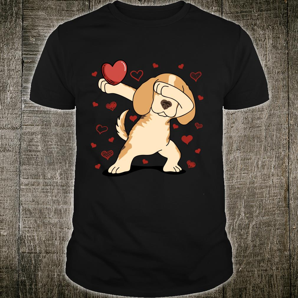 Dog Dabbing Heart For Valentine's Day Arts Shirt