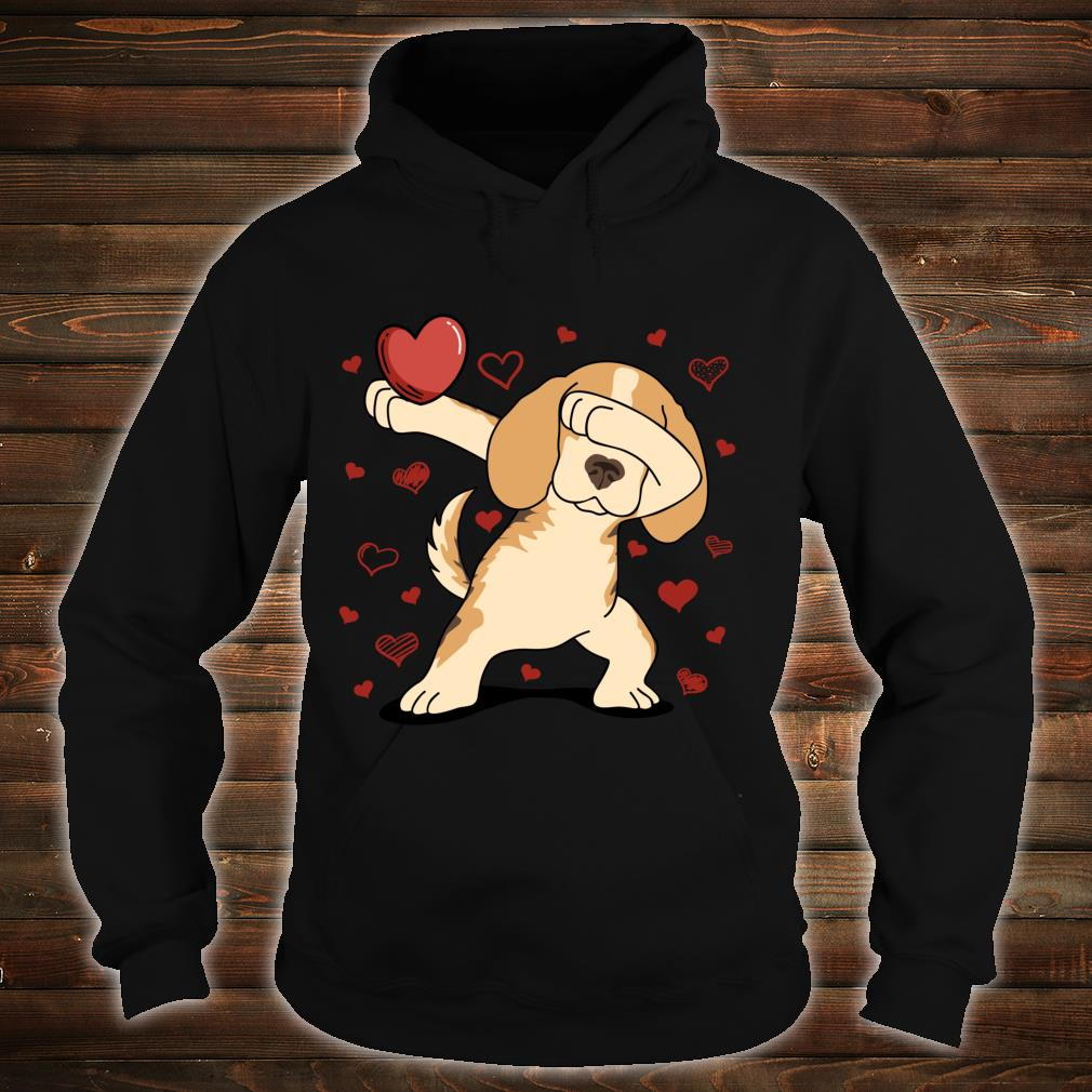 Dog Dabbing Heart For Valentine's Day Arts Shirt hoodie