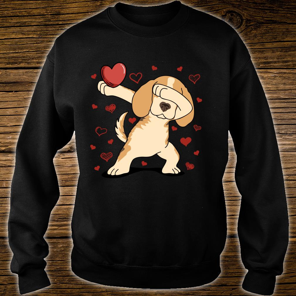Dog Dabbing Heart For Valentine's Day Arts Shirt sweater