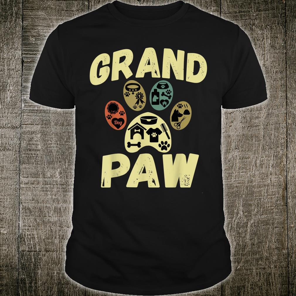 Dog Grand Paw Doggy Puppy Grandpa Vintage Shirt