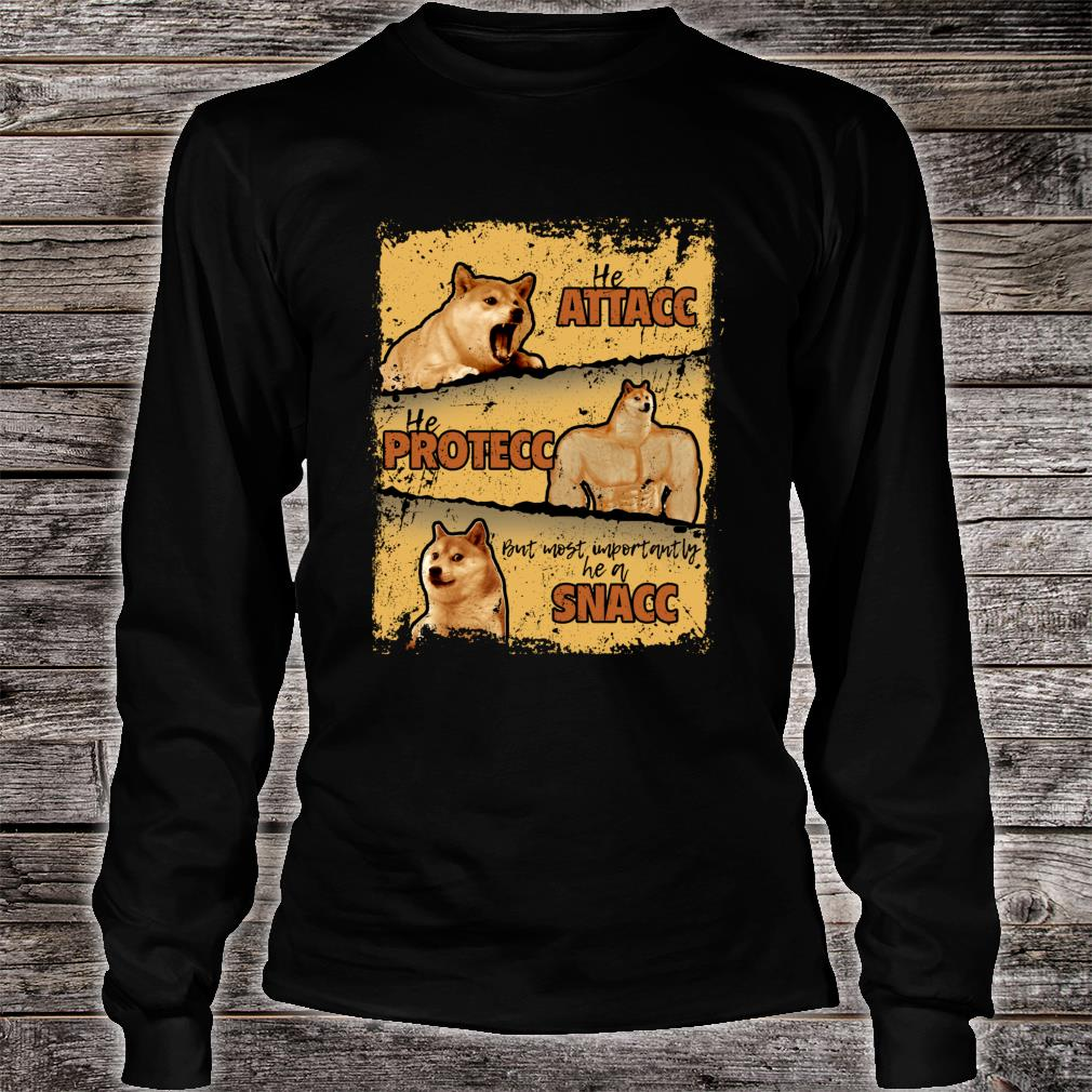 Doge vs. Cheems Memes Shiba Inu Shirt long sleeved