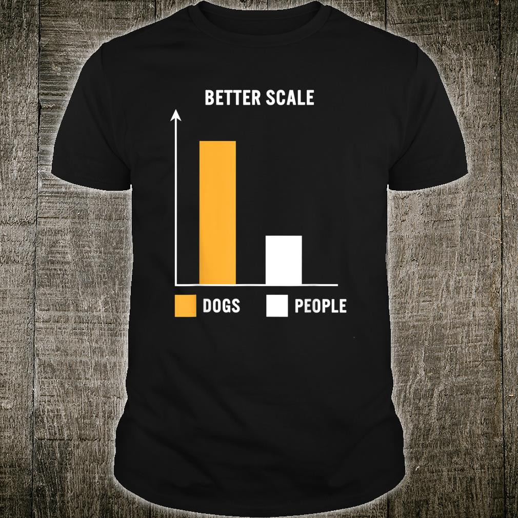 Dogs Greater Than People Better Scale Bar Chart Dog Mom Pets Shirt