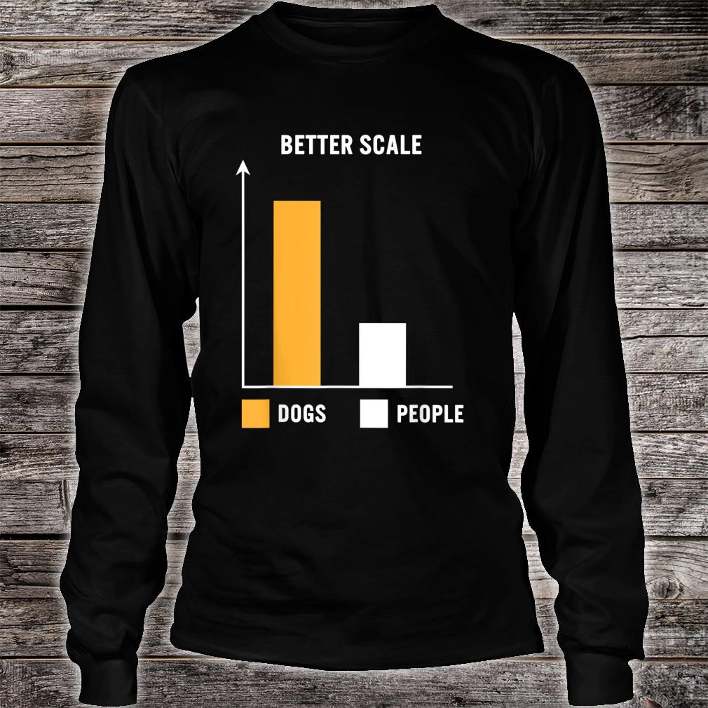 Dogs Greater Than People Better Scale Bar Chart Dog Mom Pets Shirt long sleeved