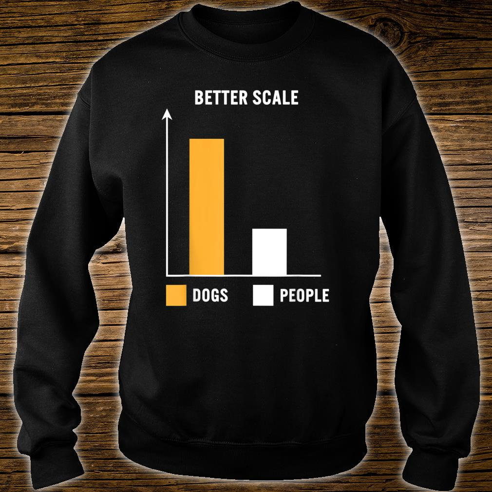 Dogs Greater Than People Better Scale Bar Chart Dog Mom Pets Shirt sweater