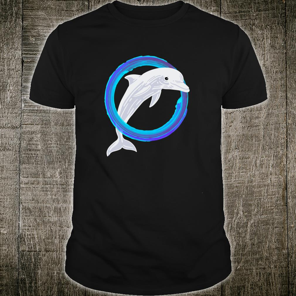 Dolphin Jumping Through Water Cute Dolphin Shirt