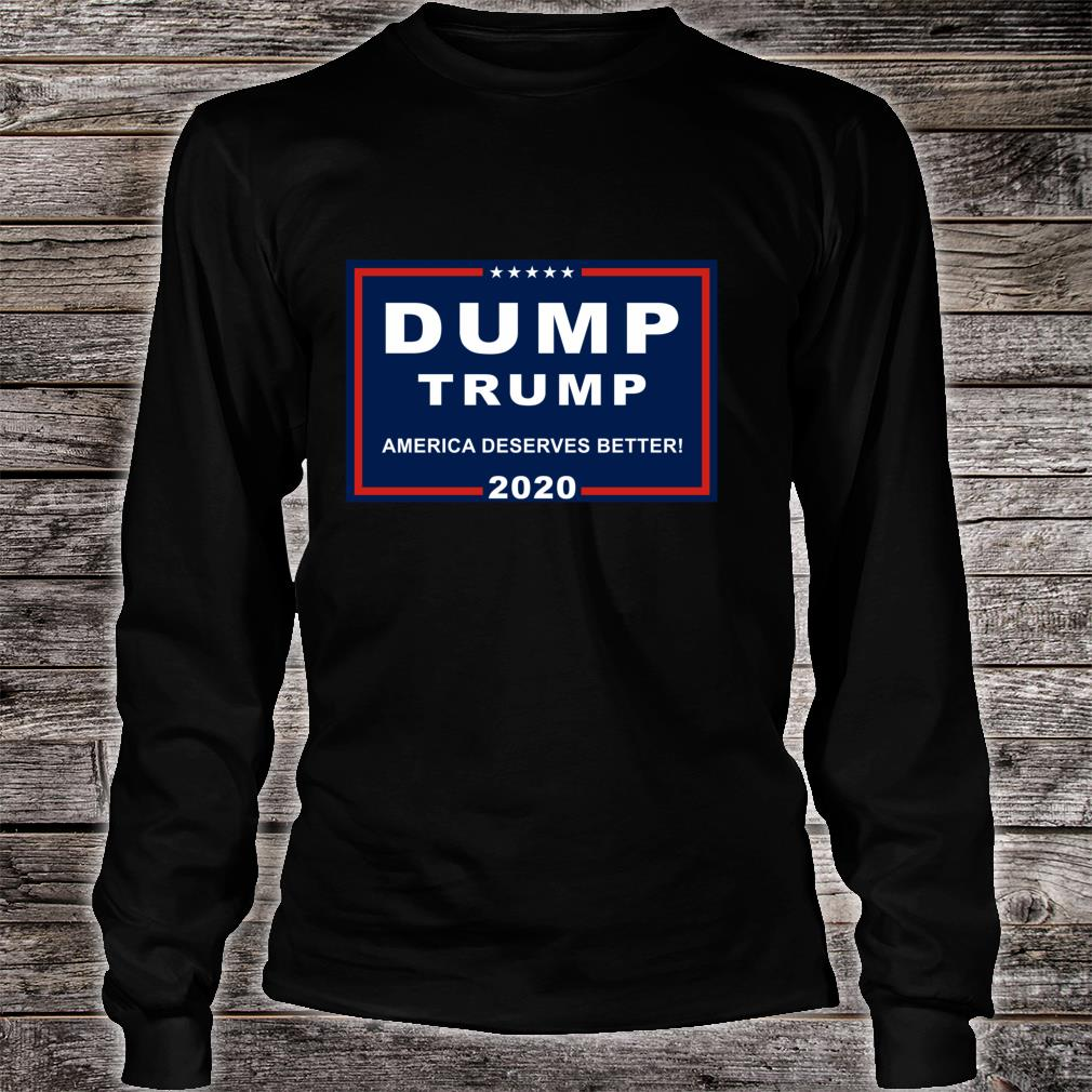 Dump Trump AntiTrump Pun For Liberals Shirt long sleeved