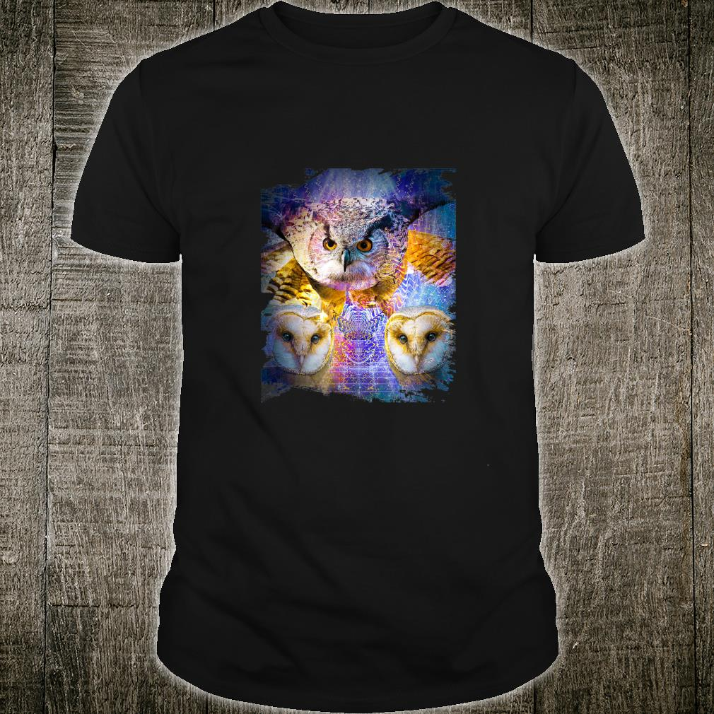 EDM Trippy Owl Rave Shirt