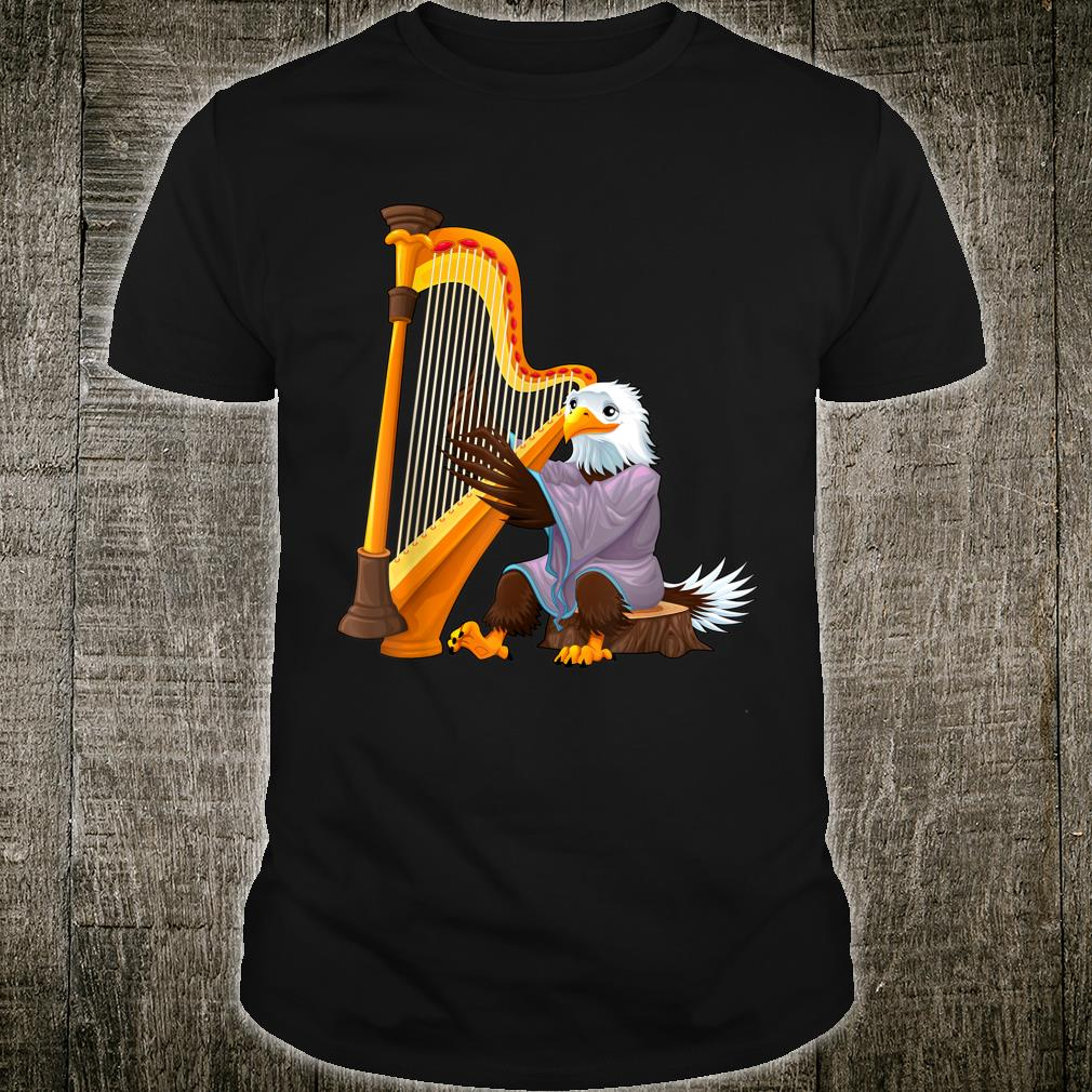 Eagle On The Harp Player Musician Animals Shirt
