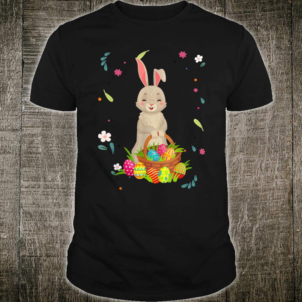 Easter Rabbit Bunny and Easter Eggs Basket Shirt