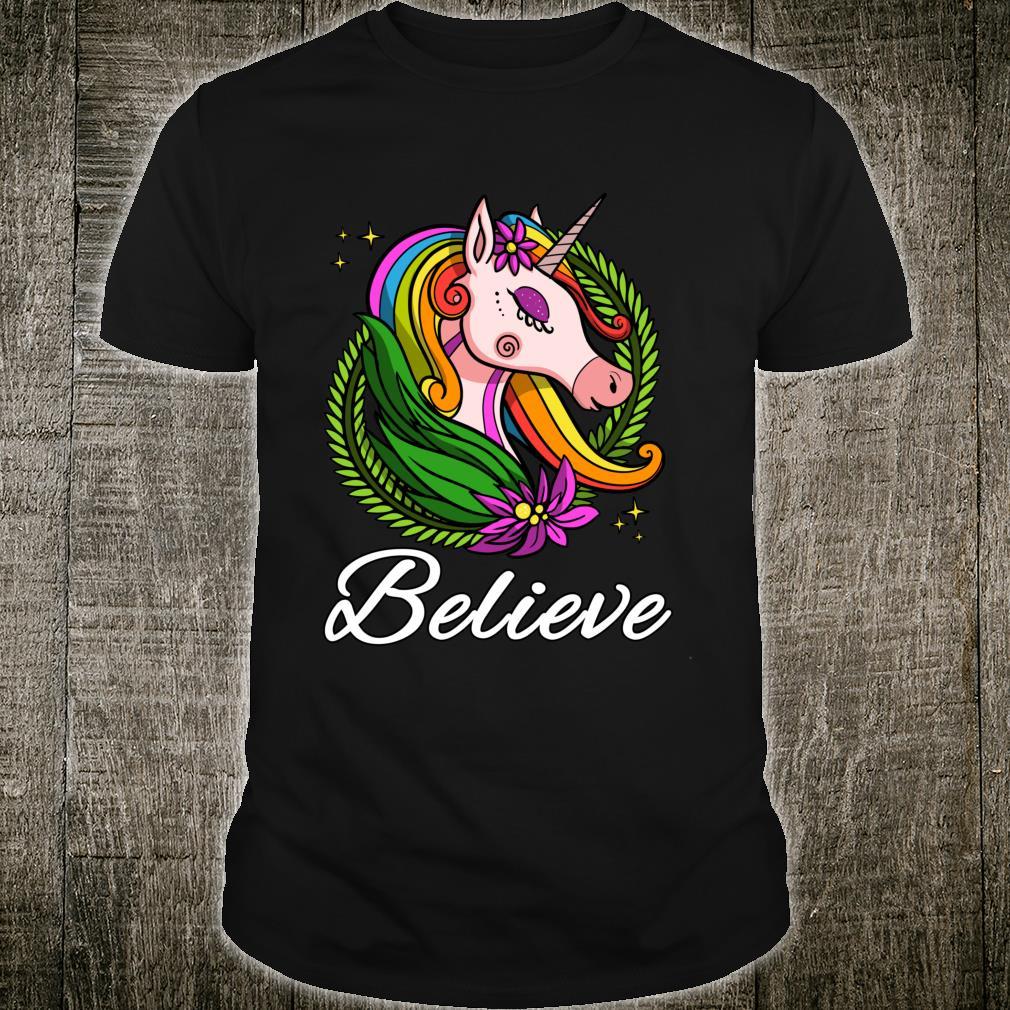 Einhorn Regenbogen Magisches Kinder Dammen Mädchen Shirt