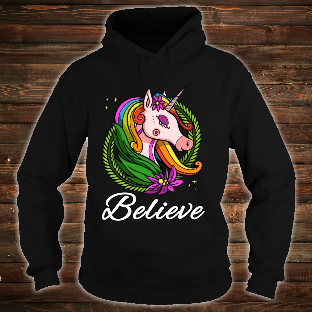 Einhorn Regenbogen Magisches Kinder Dammen Mädchen Shirt hoodie