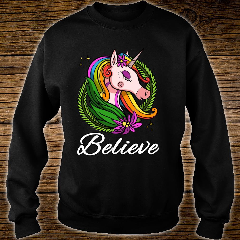 Einhorn Regenbogen Magisches Kinder Dammen Mädchen Shirt sweater