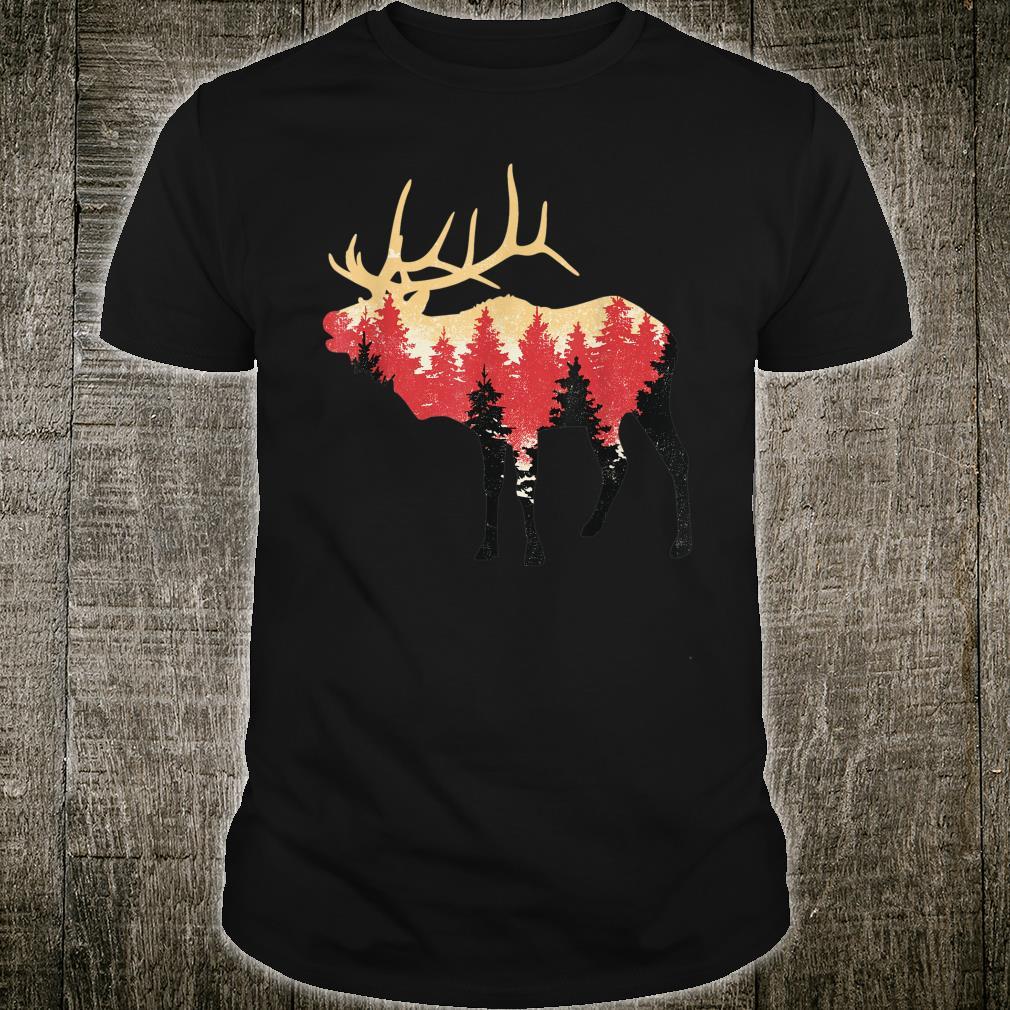 Elch Berge Wald Norwegen Skandinavien Tier Geschenkidee Shirt
