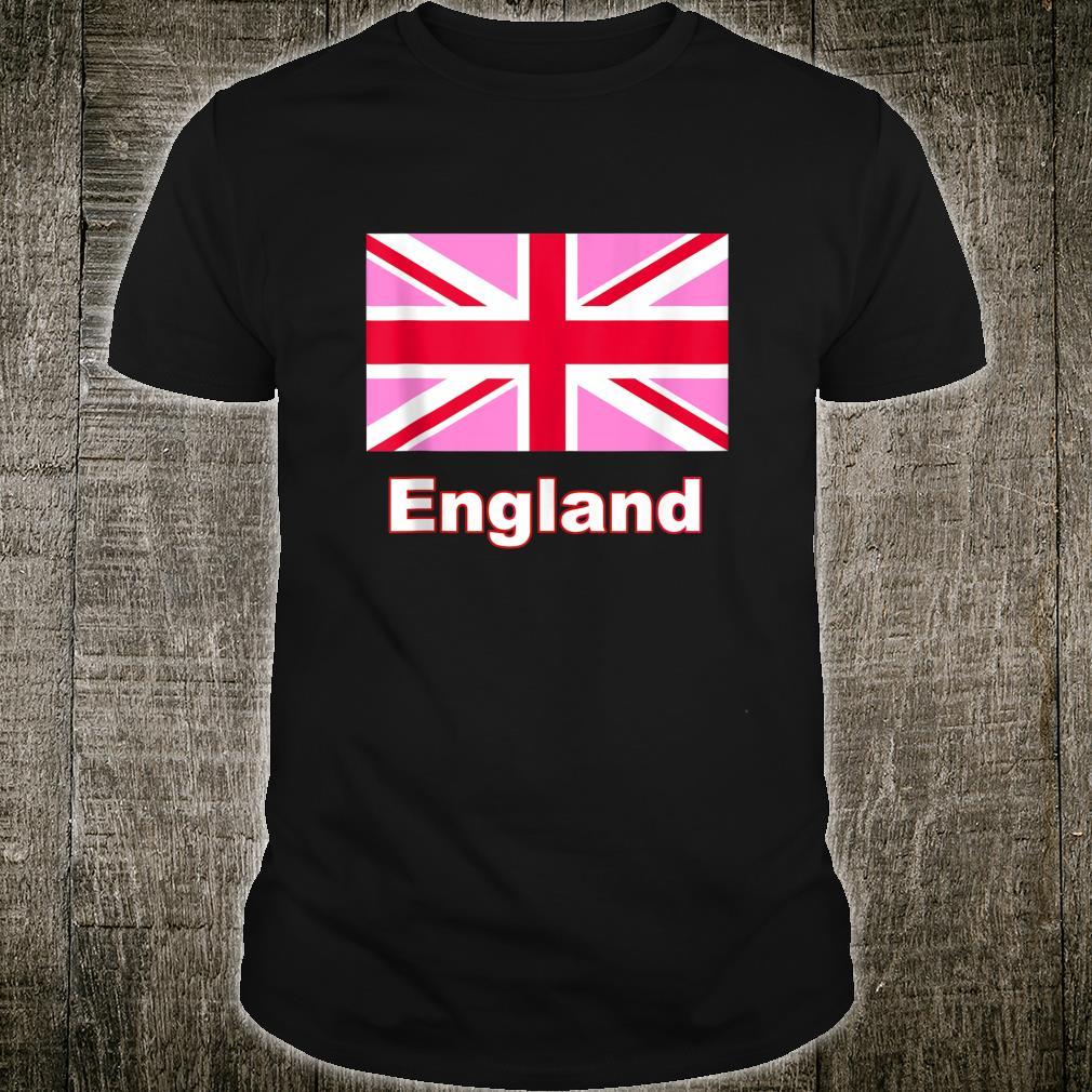 England United Kingdom Pink Flag Union Jack Shirt